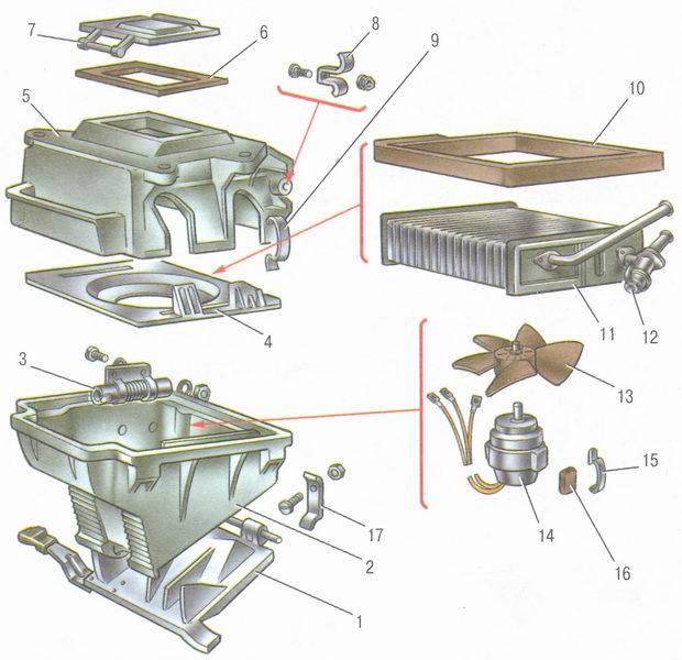 салона (печка) ВАЗ 2106: