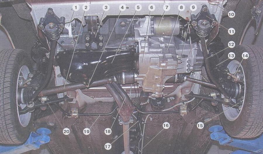 Ваз 2110 вид снизу фото