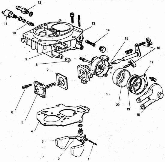 Детали крышки карбюратора